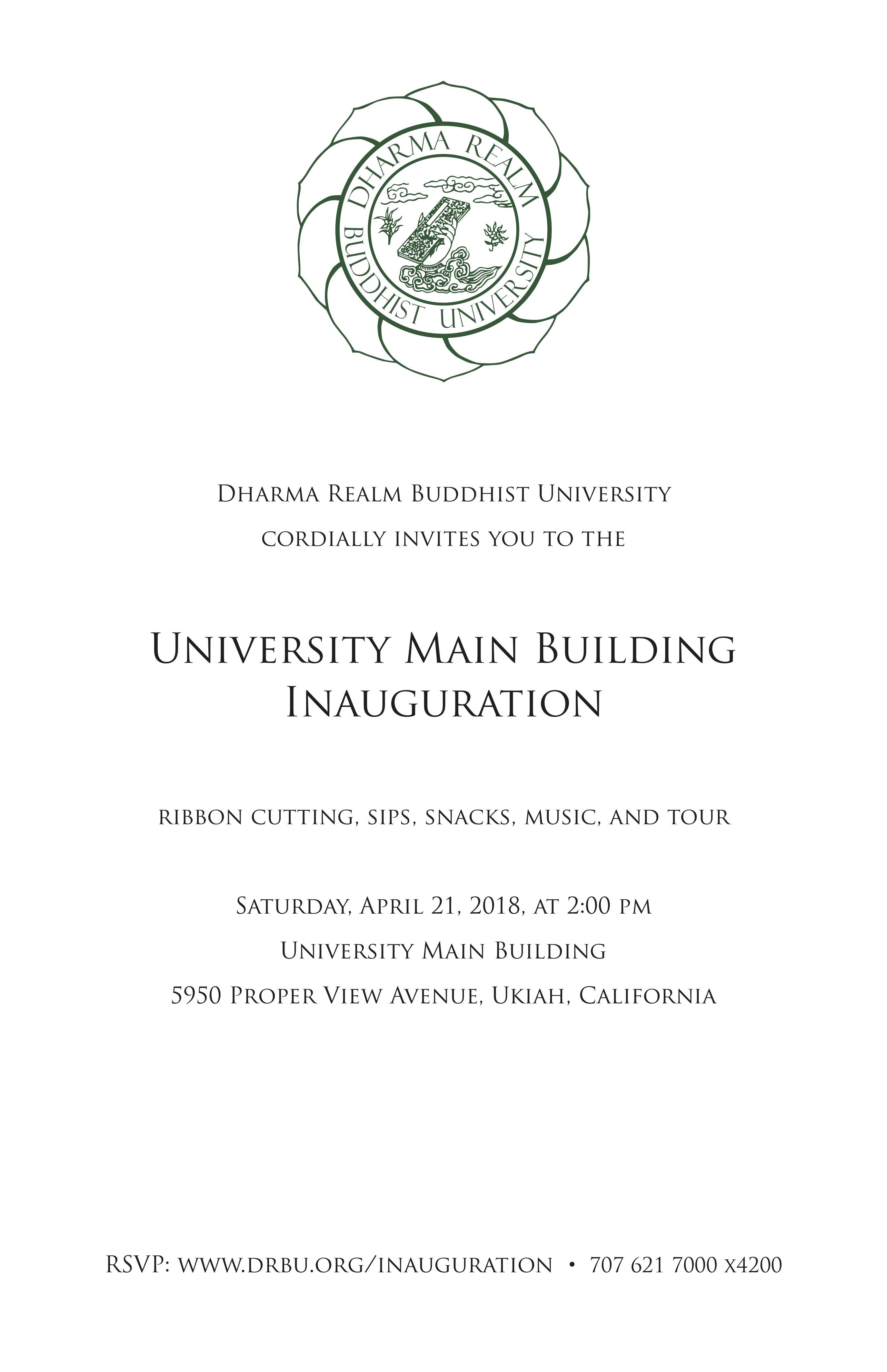 University Main Building Inauguration Drbu