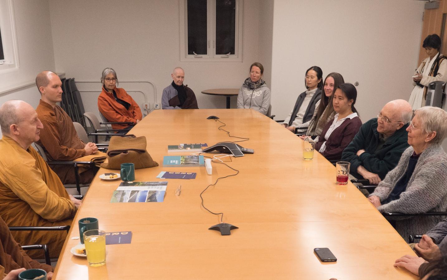 DRBU faculty meets Ajahn Amaro