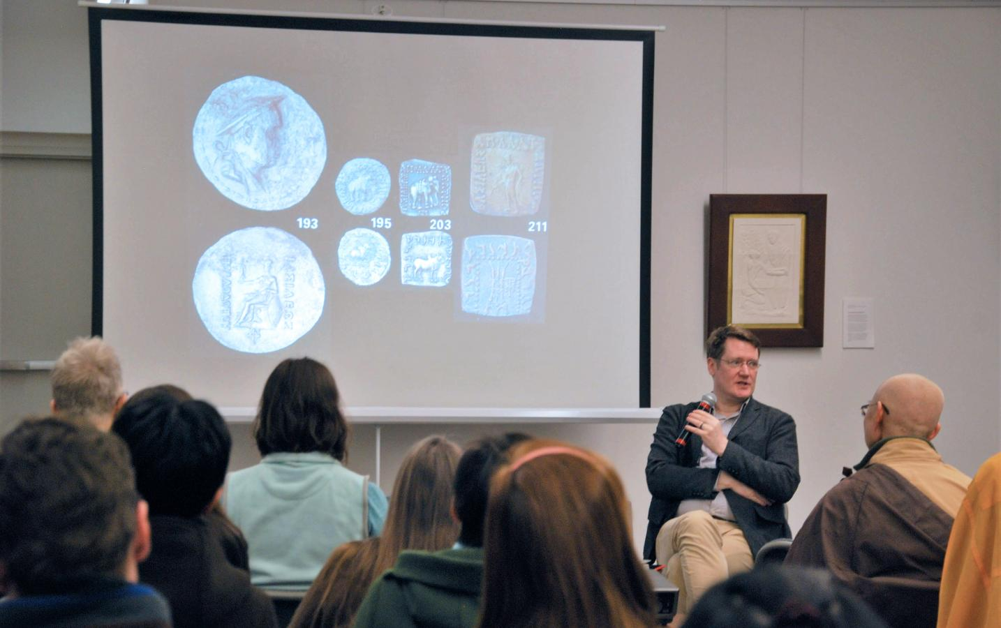 Dr. Stefan Baums delivers talk about ancient Buddhist manuscripts, February 28
