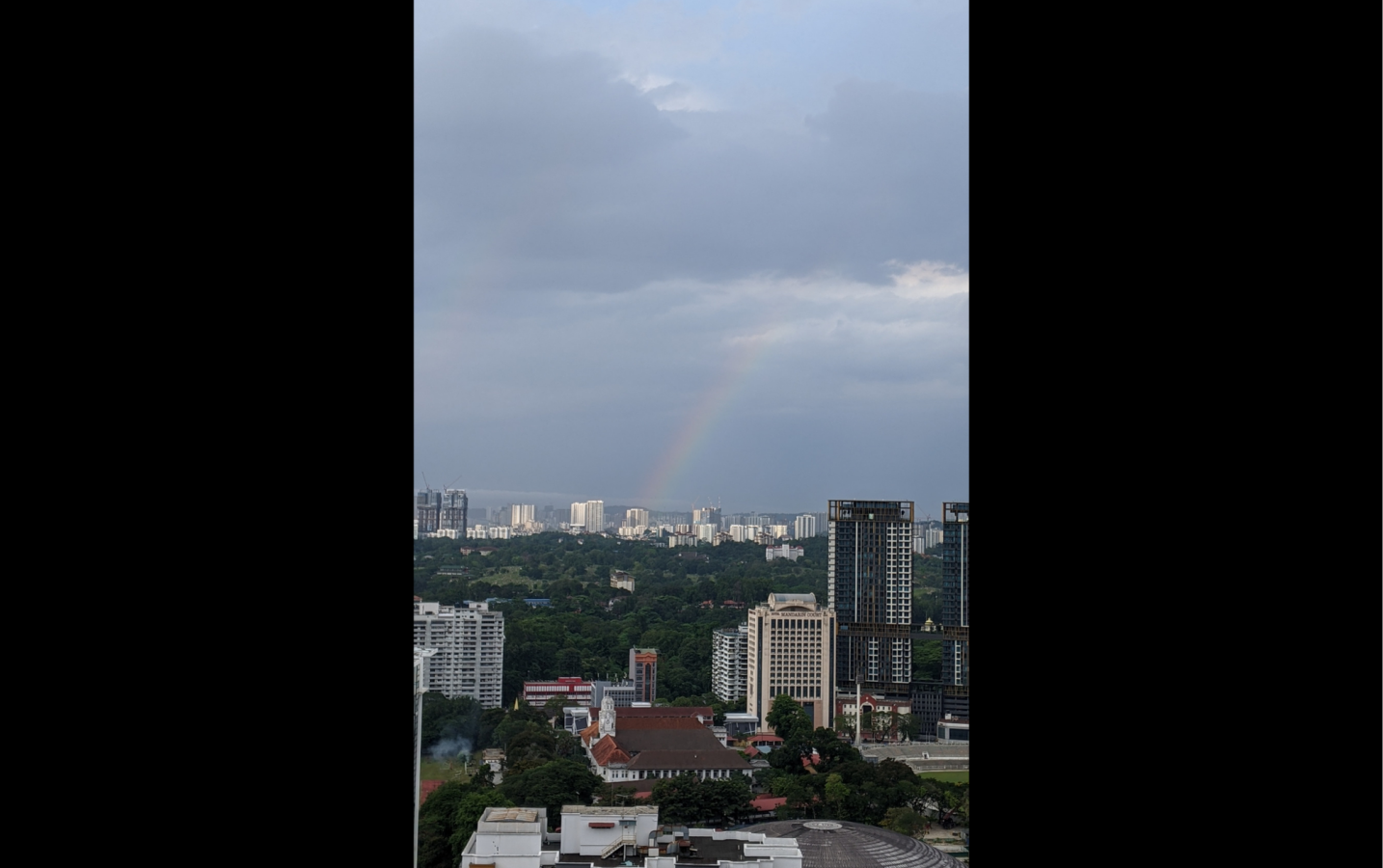 A rainbow & shooting stars. The morning of Medicine Master Buddha's Birthday. --anonymous community member