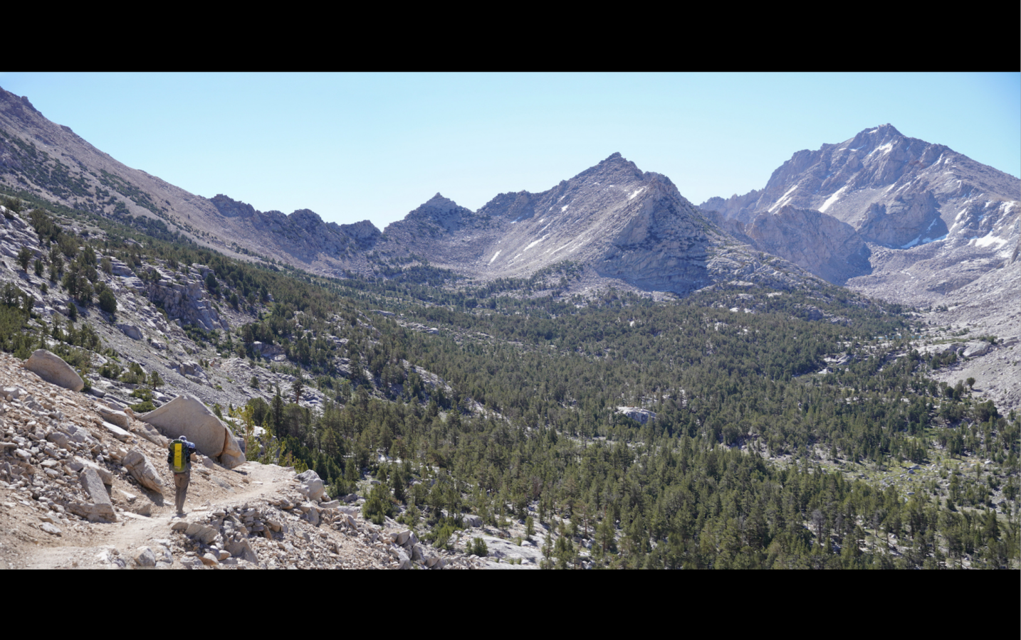 Hiking in the Eastern Sierras - Kings Canyon NP near Kearsarge Pass. --Franklyn